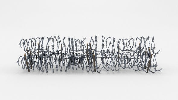 Low Poly Barb Wire Obstacle 23 - 3DOcean Item for Sale