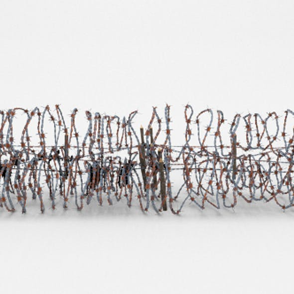 Low Poly Barb Wire Obstacle 24
