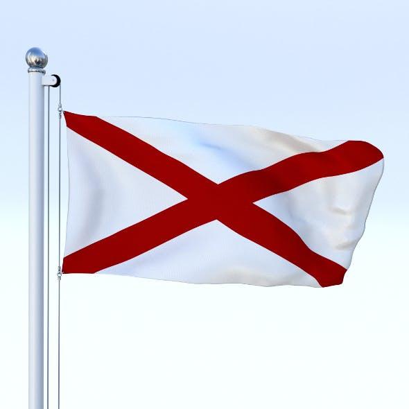 Animated Alabama Flag - 3DOcean Item for Sale
