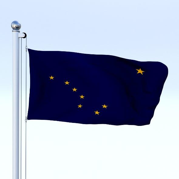 Animated Alaska Flag - 3DOcean Item for Sale