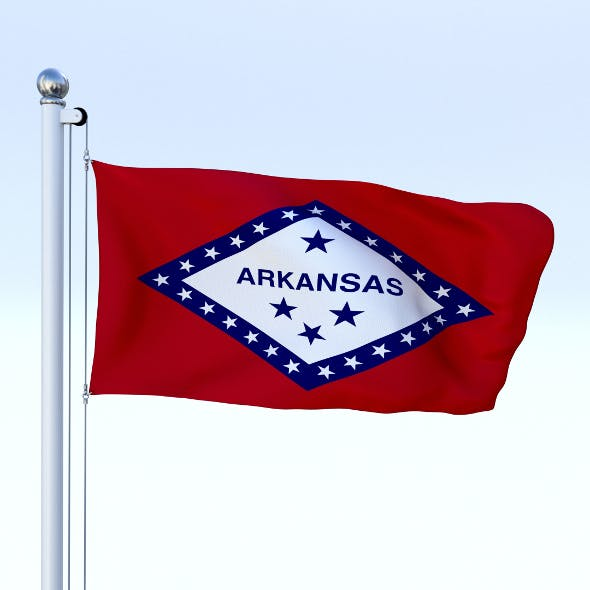Animated Arkansas Flag - 3DOcean Item for Sale