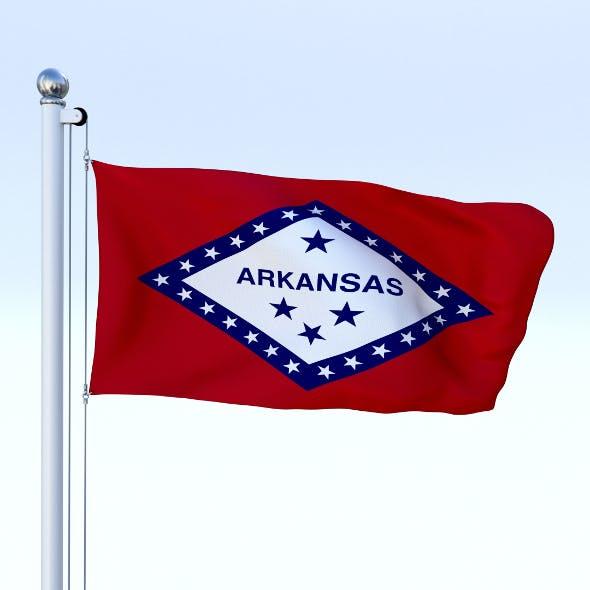 Animated Arkansas Flag