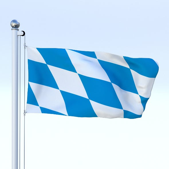 Animated Bavaria German State Flag - 3DOcean Item for Sale