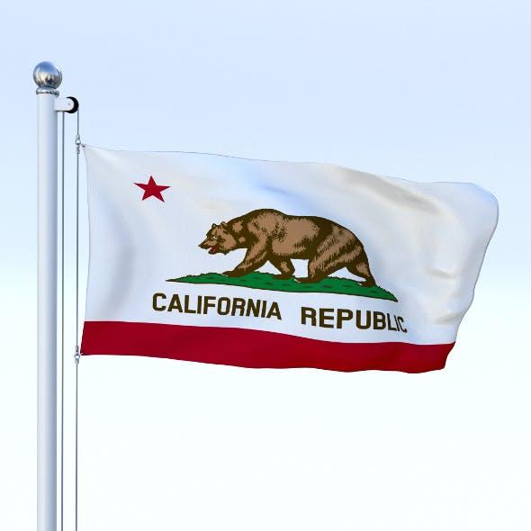 Animated California Flag - 3DOcean Item for Sale