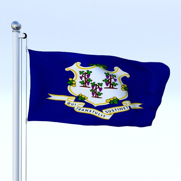 Animated Connecticut Flag - 3DOcean Item for Sale