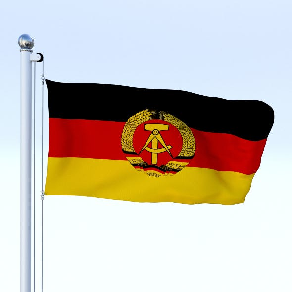 Animated East Germany Flag - 3DOcean Item for Sale