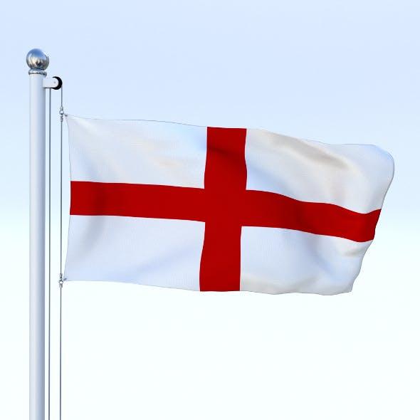 Animated England Flag - 3DOcean Item for Sale