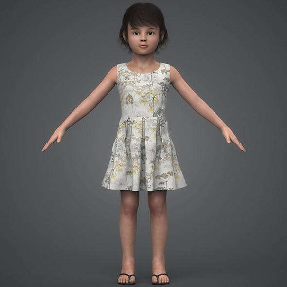 Beautiful Child Girl - 3DOcean Item for Sale