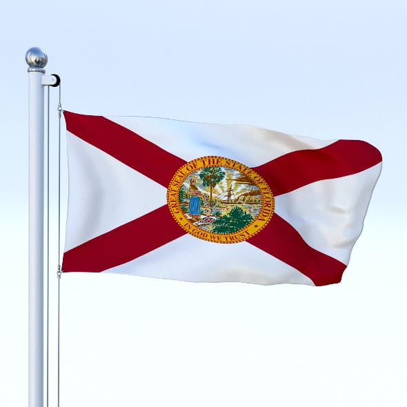 Animated Florida Flag - 3DOcean Item for Sale