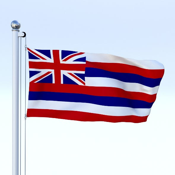 Animated Hawaii Flag - 3DOcean Item for Sale