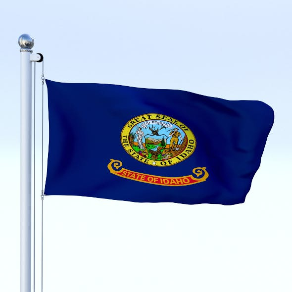 Animated Idaho Flag - 3DOcean Item for Sale
