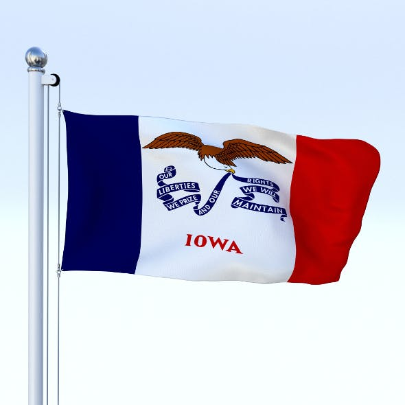 Animated Iowa Flag - 3DOcean Item for Sale