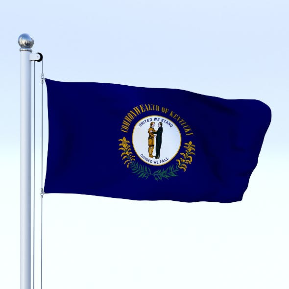 Animated Kentucky Flag - 3DOcean Item for Sale