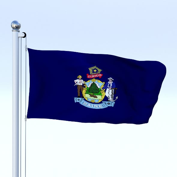 Animated Maine Flag - 3DOcean Item for Sale