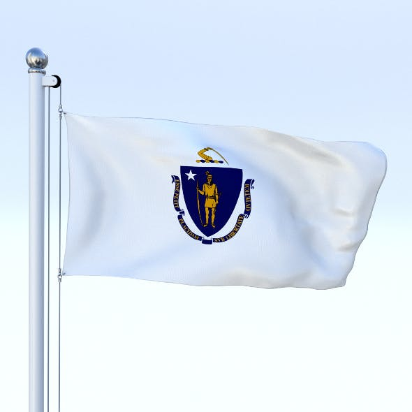 Animated Massachusetts Flag - 3DOcean Item for Sale