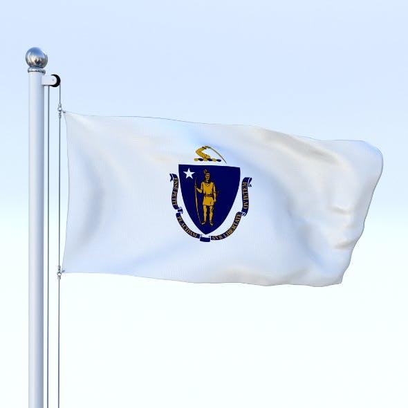 Animated Massachusetts Flag