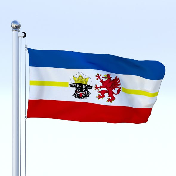 Animated Mecklenburg-Western Pomerania German State Flag - 3DOcean Item for Sale