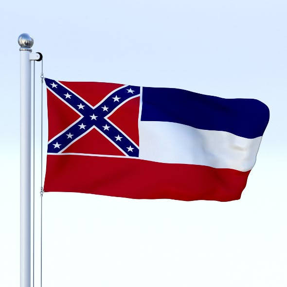 Animated Mississippi Flag - 3DOcean Item for Sale