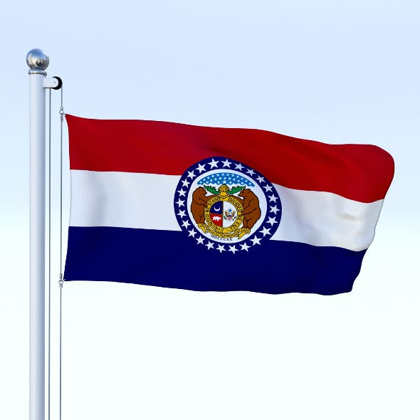 Animated Missouri Flag - 3DOcean Item for Sale