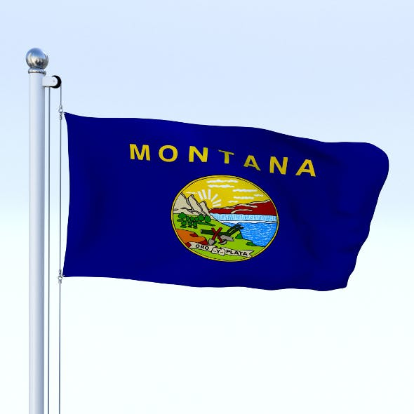 Animated Montana Flag - 3DOcean Item for Sale