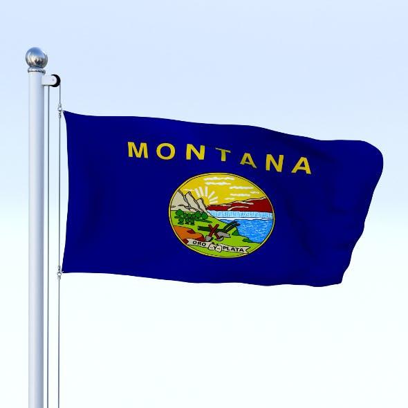 Animated Montana Flag