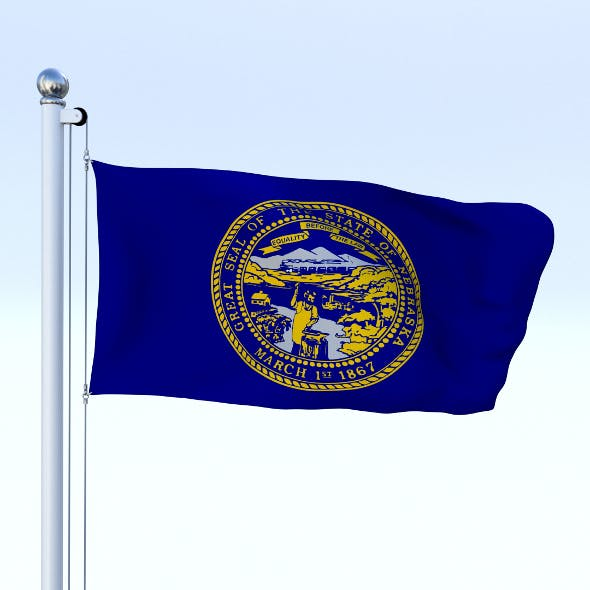 Animated Nebraska Flag - 3DOcean Item for Sale
