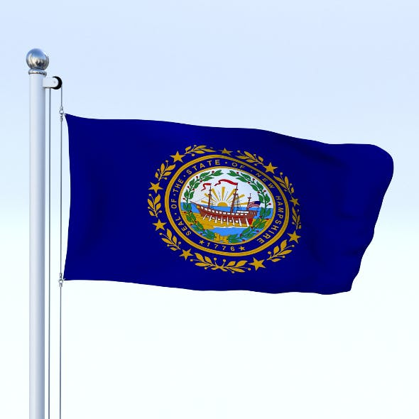 Animated New Hampshire Flag - 3DOcean Item for Sale