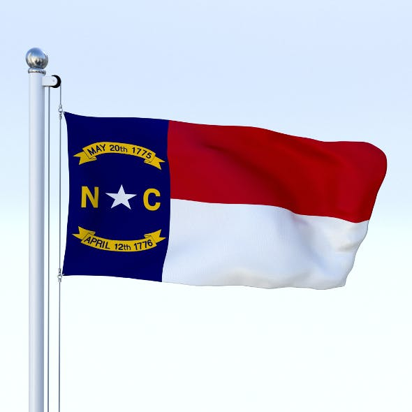 Animated North Carolina Flag - 3DOcean Item for Sale