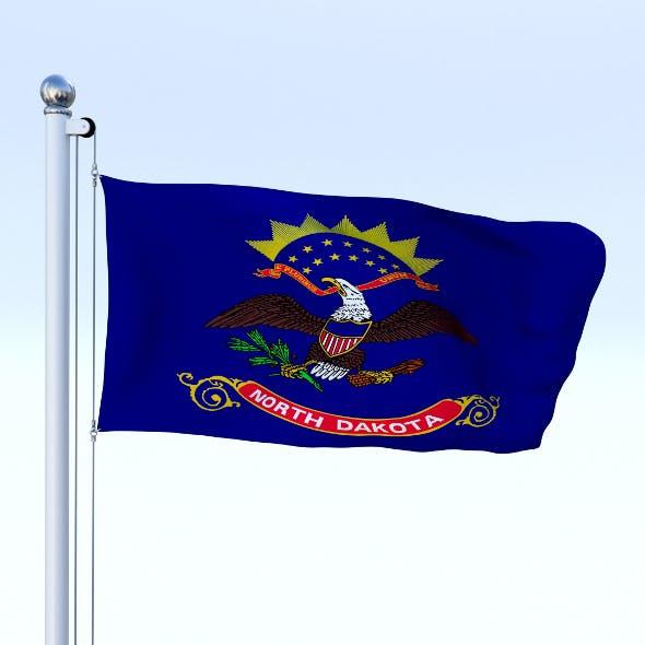 Animated North Dakota Flag - 3DOcean Item for Sale