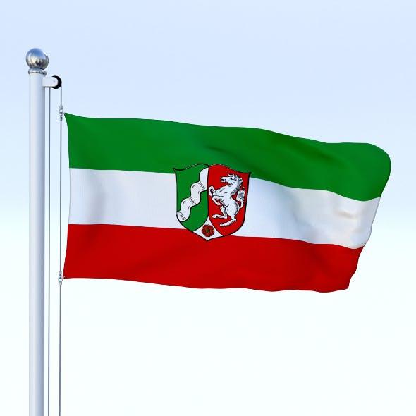 Animated North Rhine-Westphalia German State Flag - 3DOcean Item for Sale