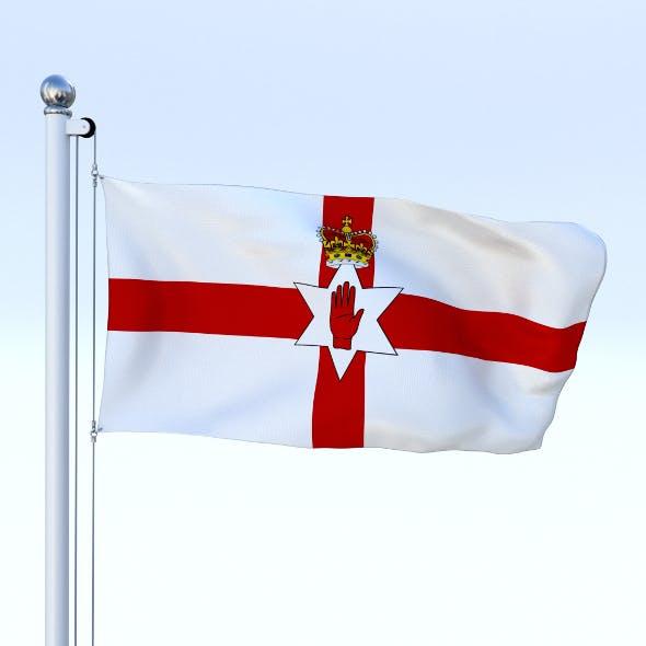 Animated Northern Ireland Flag