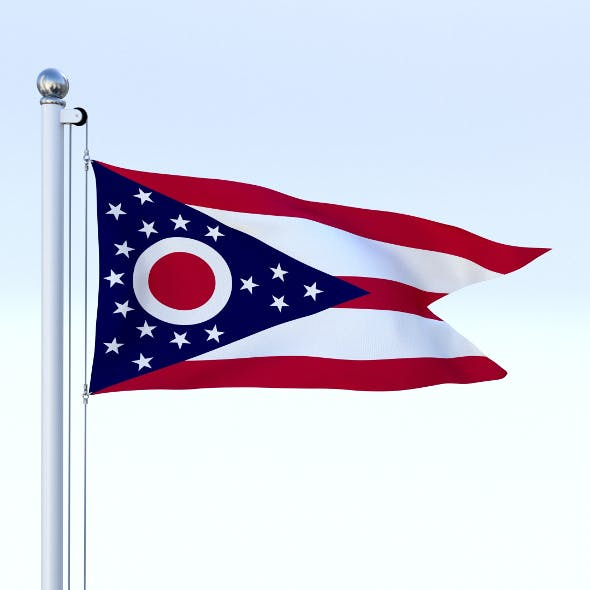 Animated Ohio Flag - 3DOcean Item for Sale