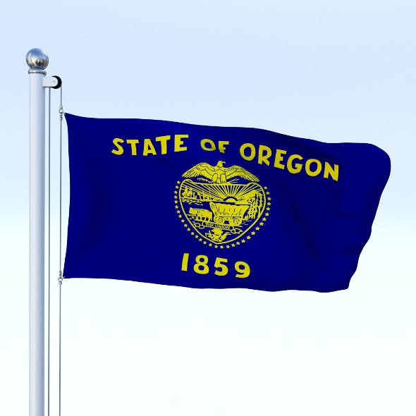 Animated Oregon Flag - 3DOcean Item for Sale