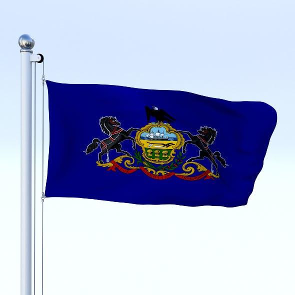 Animated Pennsylvania Flag - 3DOcean Item for Sale