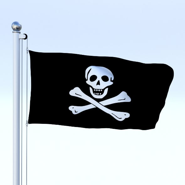 Animated Pirate Flag - 3DOcean Item for Sale
