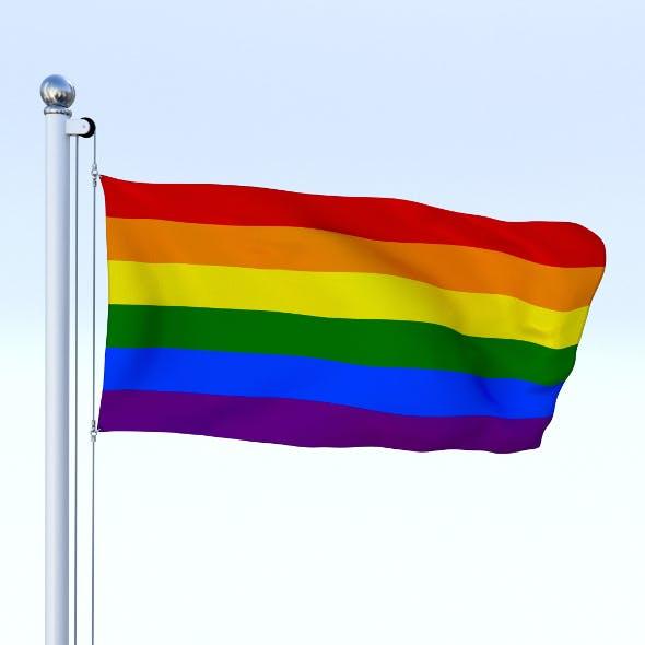 Animated Rainbow Flag - 3DOcean Item for Sale