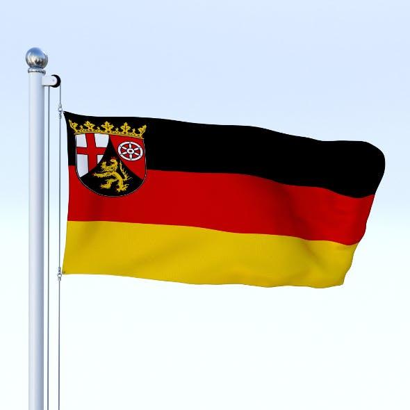 Animated Rhineland-Palatinate German State Flag