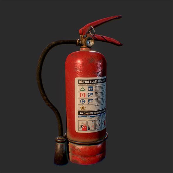 Dusty Scratched Fire Extinguisher