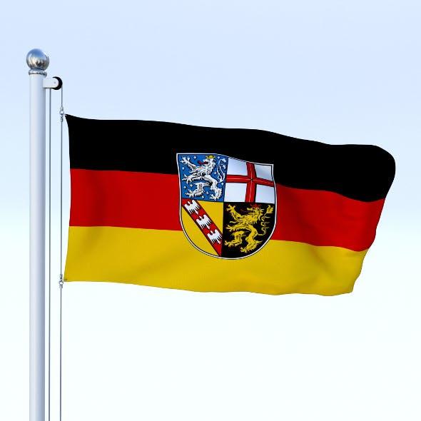 Animated Saarland German State Flag