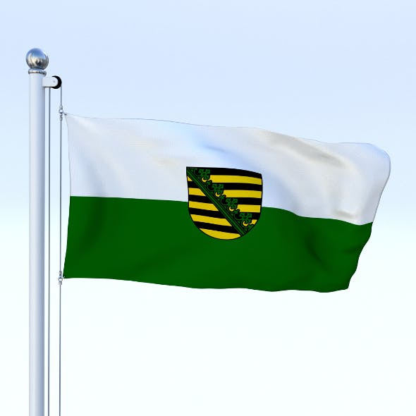 Animated Saxony German State Flag - 3DOcean Item for Sale
