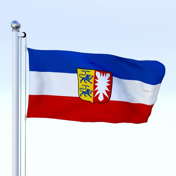 Animated Schleswig-Holstein German State Flag - 3DOcean Item for Sale