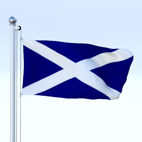 Animated Scotland Flag - 3DOcean Item for Sale