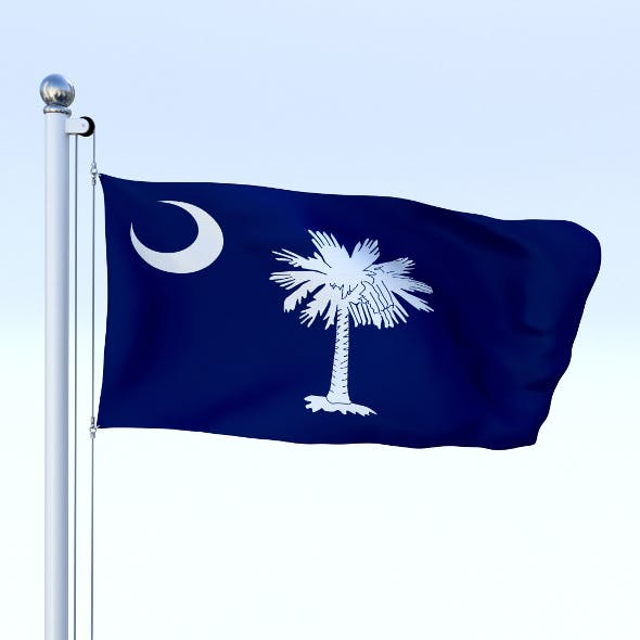 Animated South Carolina Flag - 3DOcean Item for Sale
