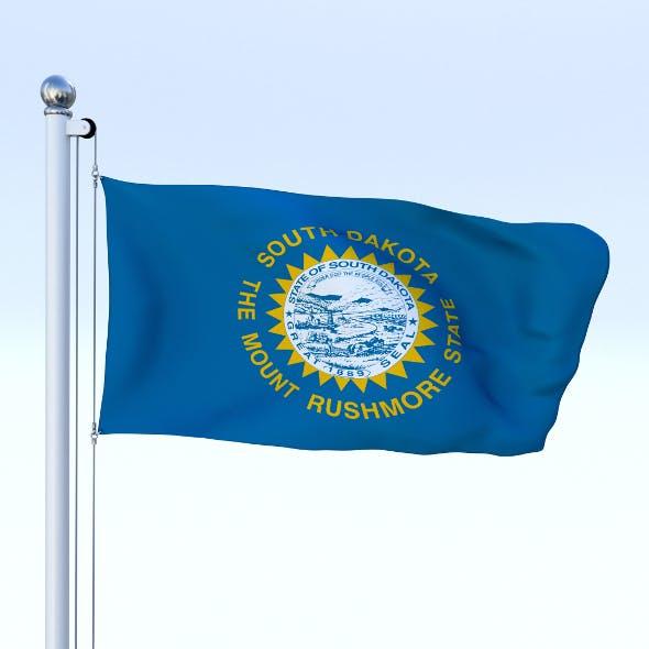 Animated South Dakota Flag - 3DOcean Item for Sale