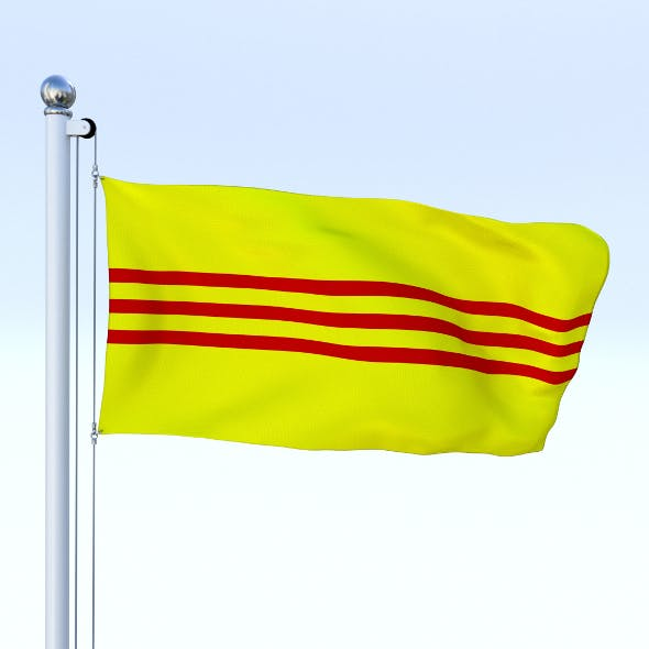Animated South Vietnam Flag - 3DOcean Item for Sale