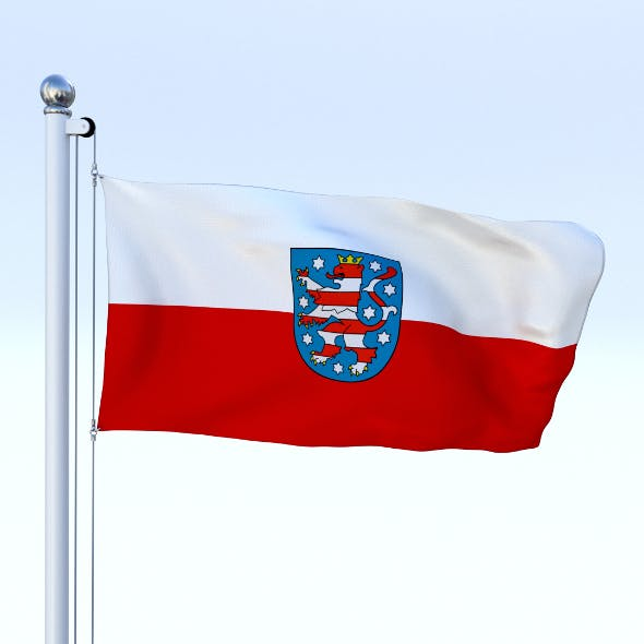Animated Thuringia German State Flag - 3DOcean Item for Sale
