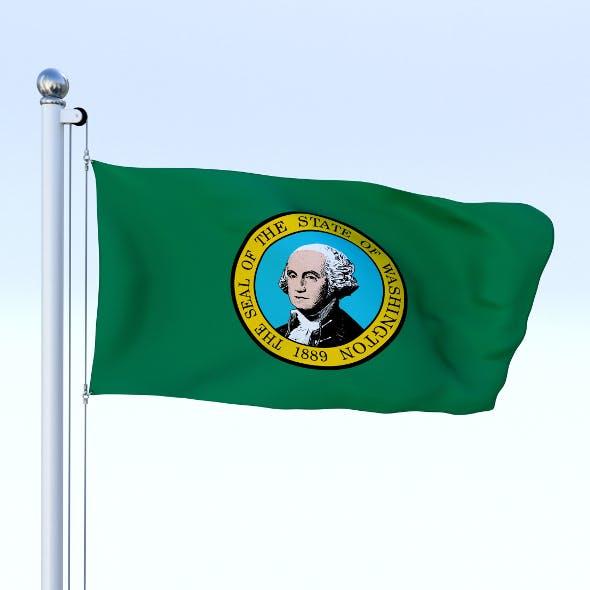 Animated Washington Flag - 3DOcean Item for Sale