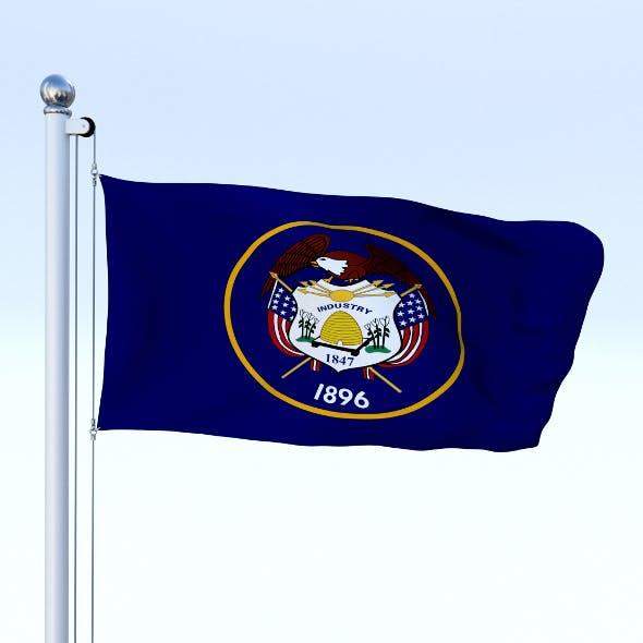 Animated Utah Flag - 3DOcean Item for Sale