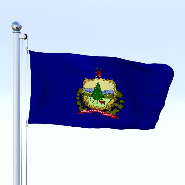 Animated Vermont Flag - 3DOcean Item for Sale
