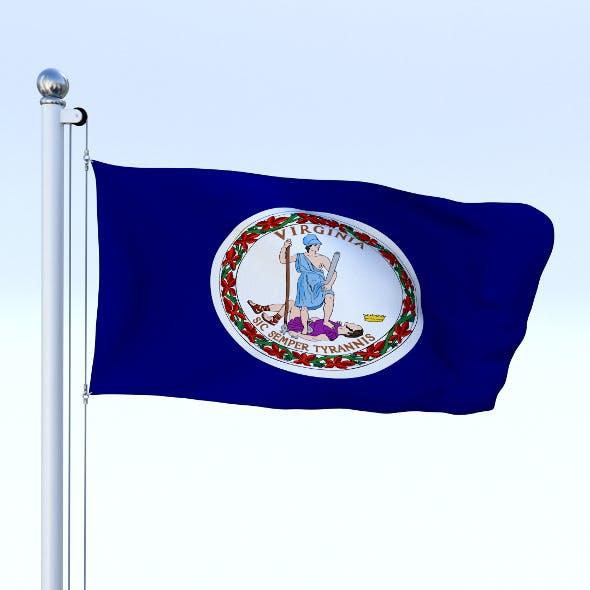 Animated Virginia Flag - 3DOcean Item for Sale